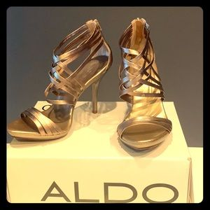 Gently Worn Gold Aldo Heels